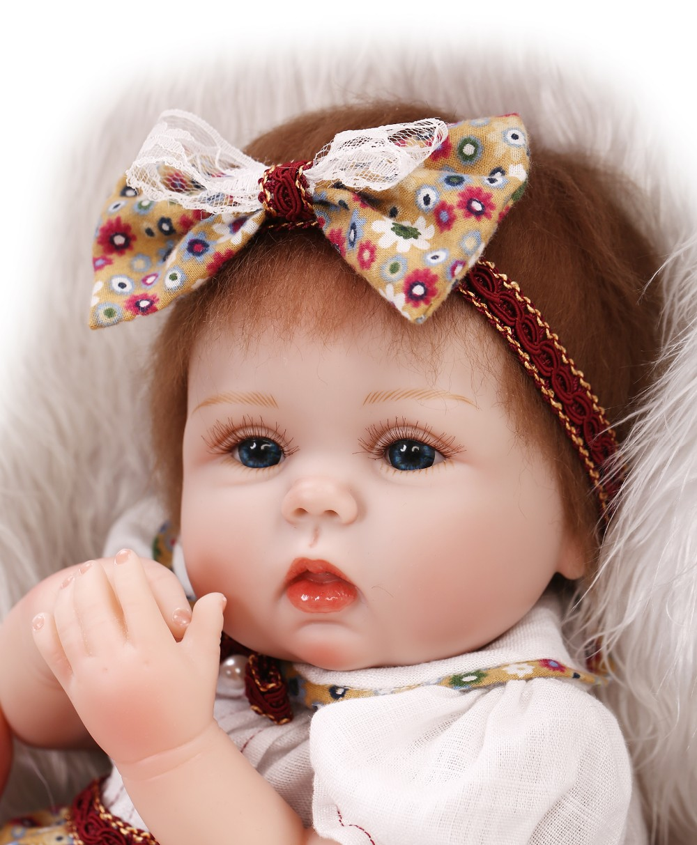40cm bebe doll reborn toys cloth body silicone reborn baby dolls best children gift play house for Best reborn baby dolls