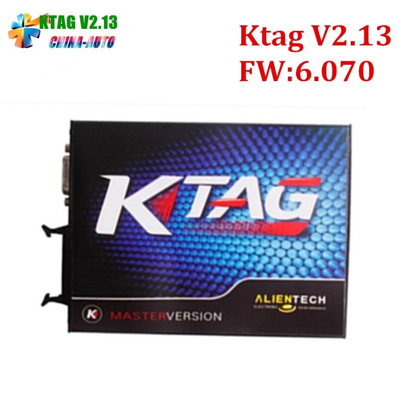 2018 New KTAG V2.13 Hardware V6.070 ECU Programming Scanner Master Version No Tokens Limited K TAG 100% J-Tag Compatible K-TAG