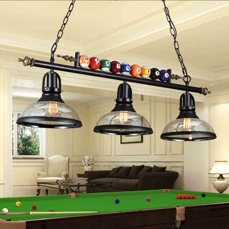 American glass Chandeliers indoor lighting lustre modern billiards chandelier lights for dining room restaurant living room
