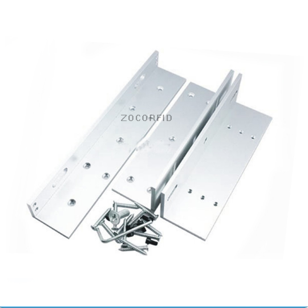 ZL Bracket Use for 180kg Electronic Magnetic Lock For Narrow Door / Access Control System diysecur zl bracket use with 280kg electronic magnetic lock for narrow door access control system