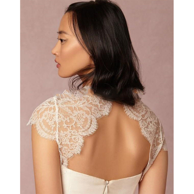 2016 White Lace Bridal  Wraps Bolero