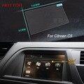 7 Polegada de Aço da Tela de Navegação GPS Controle de Tela LCD Película Protetora Para Citroen C5 Carro Styling Adesivo