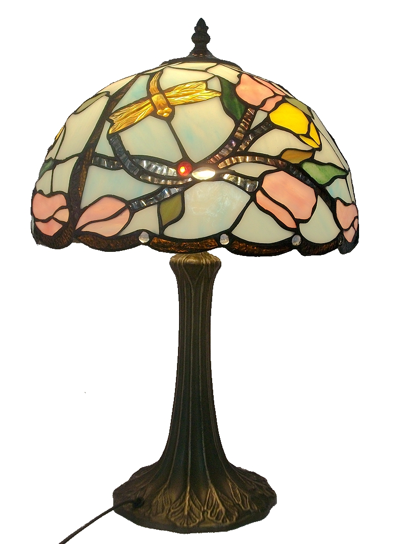 12 inch glass Dragonfly Table Lamp Tiffany lamp new decorative lamp pastoral creative stained glass flowers