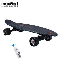 Maxfind 3.7 kg mais portátil hub motor remoto skate elétrico com bateria samsung dentro mini skate