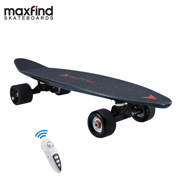 Maxfind 3.7 kg most portable hub motor remote electric skateboard with Samsung battery inside mini skateboard