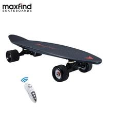 Maxfind 3.7 キロほとんどポータブルハブモーターリモート電動スケートボードサムスンバッテリー内部ミニスケートボード