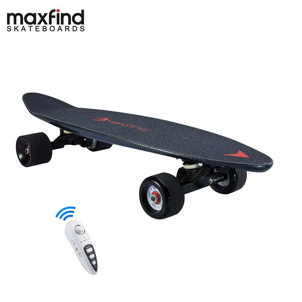 Planche à roulettes électrique à distance de moteur de hub de maxfound 3.7 kg la plus portative avec la batterie de Samsung à l'intérieur de mini planche à roulettes