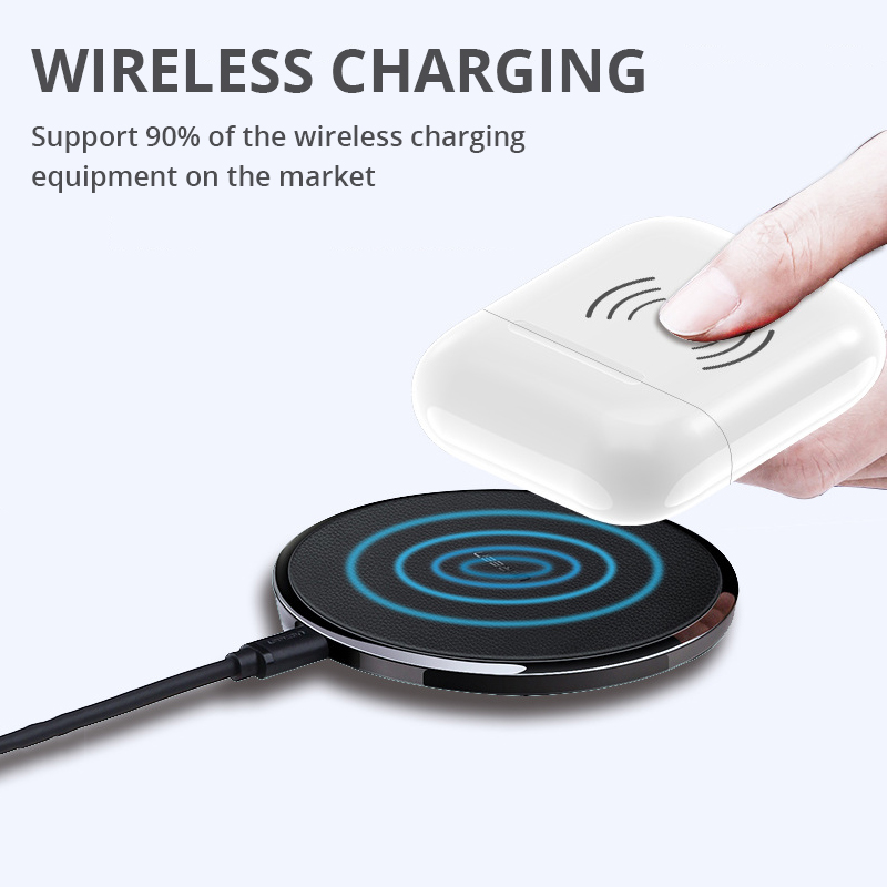 Image 3 - Wireless Charging Box For Airpods Apple Bluetooth Earphone Airpods Charger House Perfect Match Apple Headset Wireless Charger-in Mobile Phone Chargers from Cellphones & Telecommunications