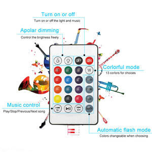 Image 3 - Smart E27 RGB Bluetooth Speaker LED Bulb Light 12W Music Playing Dimmable Wireless Led Lamp with 24 Keys Remote Control