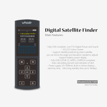 DVB-S/S2 DZ6730 Finder HD Satellite Finder with High Definition 3.0 Inch LCD Display MPEG-4 Satellite Meter Satfinder PK V8 Find цена