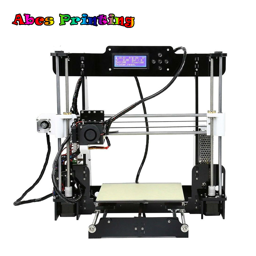 Cheap 3D Printer 2018 A8 Upgradest New Mainboard Reprap Prusa I3 DIY Kit Impressora 3d недорго, оригинальная цена