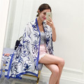 Women Silk Scarves and Beach Shawl Printing Lady Scarf and  Echarpe Luxurious Wrap of New Designer Plus Size SC2864
