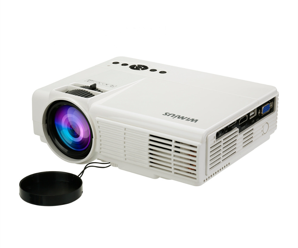 Wimius T3 1200 Lumens Full HD LED font b projector b font Protable Mini Small Home