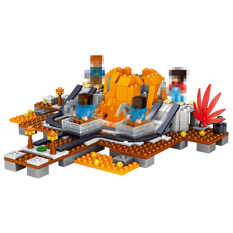 My World Series Ketela Volcano Mine Building Blocks Toddlers Clever Construction Toy Compatible LegoINGlys Minecrafter 357 Pcs 259pcs new my world building blocks sets mine and workers scene blocks compatible legoinglys minecrafter toys for childrens