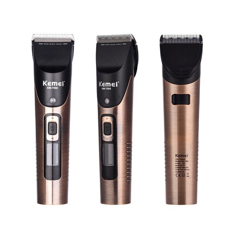 Tondeuse à cheveux électrique professionnelle Rechargeable à faible bruit tondeuse à cheveux avec batterie au lithium 2500mAh outils de style hommes adultes X46