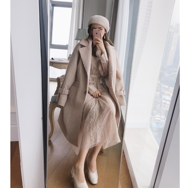 Mishow 2018 Autumn Winter New Coat Women Long Sleeve Jacket Casual Overcoat MX18D9670