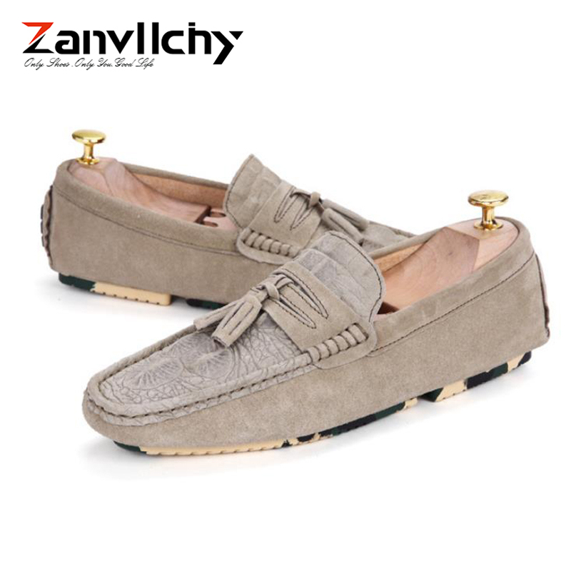 Zanvllchy Luxury Loafers Men Crocodile Mocassin Homme Spring Summer Brand Mocasines Hombre Genuine Leather Boat Shoes for Male 2