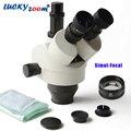 Luckyzoom бренд 3.5X-90X Simul-Focal Тринокулярный зум стерео микроскоп головка может видеть 3 окуляра одновременно