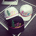 Fruit Embroideried Snapback Cap Paradise In Your  Heart Summer Sun Hat Hip Hop Cap Bone Aba Reta Gorras Homme Casquette