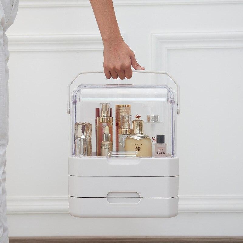 Cosmetics Storage Box with HA, Portable