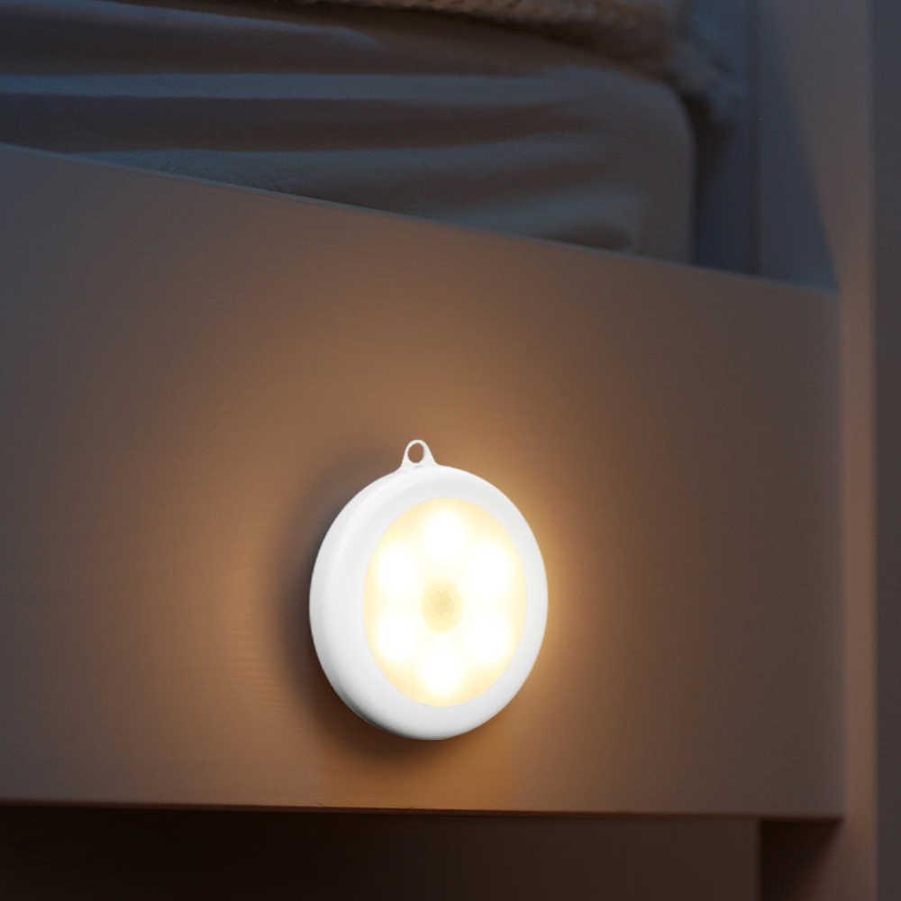 IVYSHION 1/3, 6 штук в партии, обладает ИК-датчиком движения Сенсор Ночной светильник диаметром 80 мм 6 светодиодов Беспроводной детектор светильник Авто включения/выключения лампы защиты глаз лампы