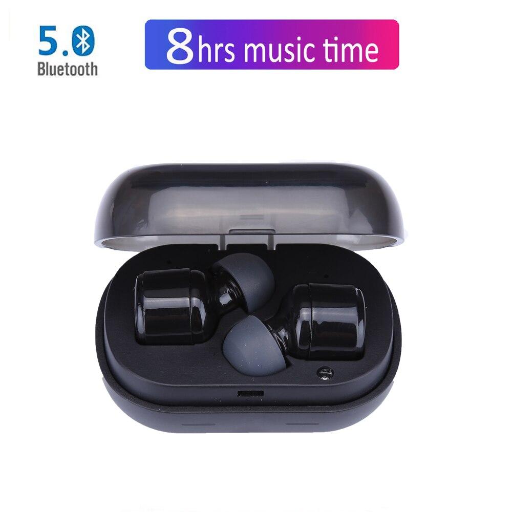 NVAHVA Mini TWS Bluetooth V5.0 Eearphones Robinet Sans Fil Écouteurs Bluetooth Casques Avec 8 Heures Musique Appel Pour Téléphones PC TV sport