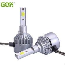 цена на H27 881 Car LED Headlight Front Fog Lamp Bulb 36W 7600Lm H1 H3 headlight High lumen Daytime driving light 6000K White 12V 24V