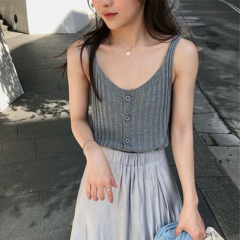 Liva Girl Summer Sexy Female Crop   Tops   Cotton Women Sleeveless Straps   Tank     Top   Solid Fitness Lady Camis