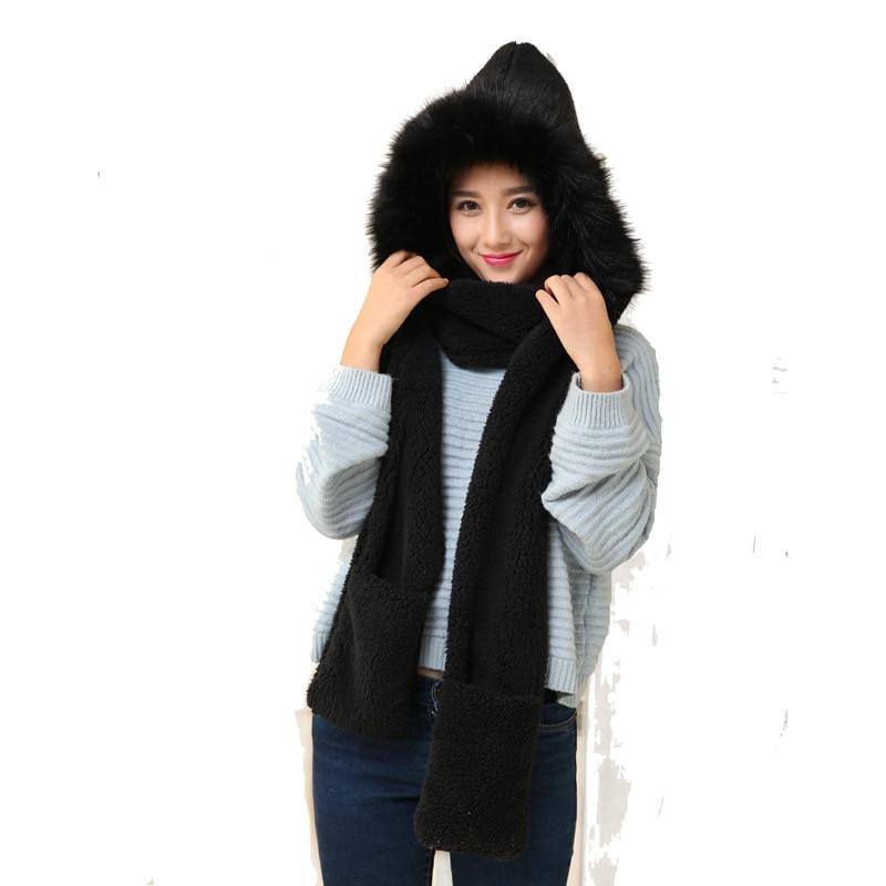 New Fashion Hair Ball Scarf Female Winter Wild Students English Lattice Tassel Warm Scarf Soft Sister Sweet Cute Hat Gloves