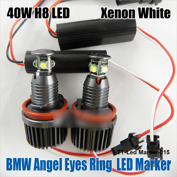 Us 43 95 25 Off 2x 40w H8 White Led Angel Eye Halo Ring Marker Light Bulb Replacement Bulb Upgrade Kit For 08 13 E63 E64 630 640 650 645 M6 In