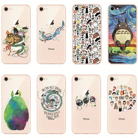 Cute Totoro Spirited Away Ghibli Miyazaki Anime Soft Clear Phone Iphone X 7 7Plus 6 6S 6Plus 5 5S 8 8Plus
