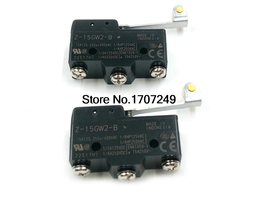 5pcs New Original Omron Z 15gw2 B Micro Switch Roller Lever Self With Resetting Travel Limit Silver Contact In Switches From Lights Lighting On