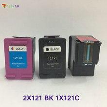 Vilaxh compatible ink cartridge replacement For HP 121 121xl Deskjet 2050 1050 F2560 F4283 F2423 F2483 F2493 F4275 F2420 F2480 картридж с чернилами uniprint 2 121xl hp 121 xl hp deskjet 2050 1050 f2480 f2492 for hp121