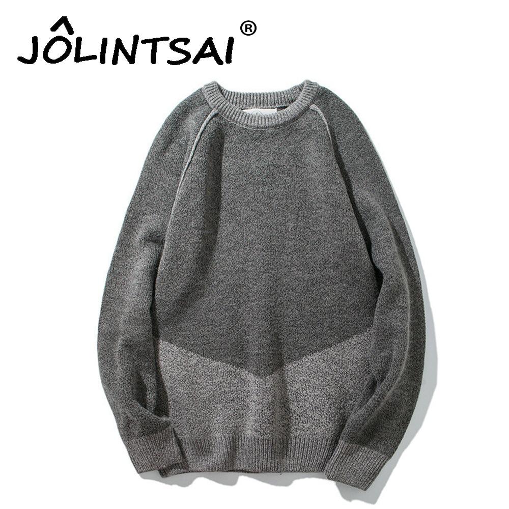 Fashion Patchwork Sweater Men 2017 Autum