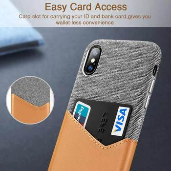 High Grade Leather with Soft Fabric Shockproof iPhone X  Case  1