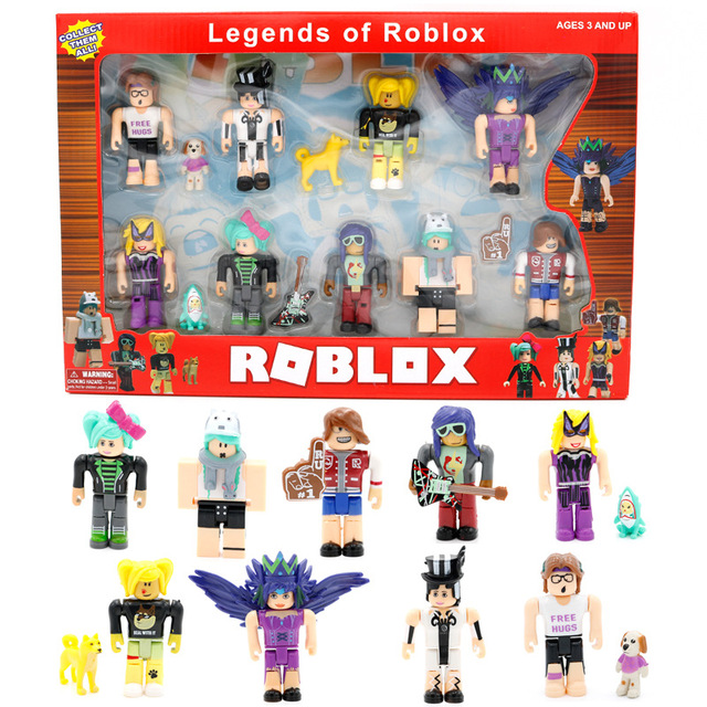 US $11 59 45% OFF 9pcs/lot Roblox Blocks Cute Action Figures Plastic PVC  Birthday Christmas Gifts Collectible Funs Toys Children 2018 Roblox Toy-in