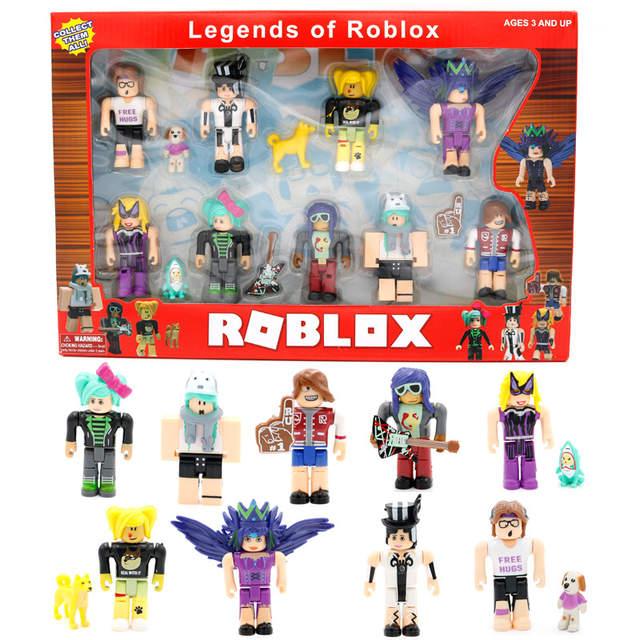 Online Shop 9pcslot Roblox Blocks Cute Action Figures Plastic Pvc