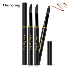 OneSpring 3 Color Multifunction Automatic Eyebrow Pen Makeup Waterproof Long Lasting Eye Brow Cosmetic Pencil with Brush