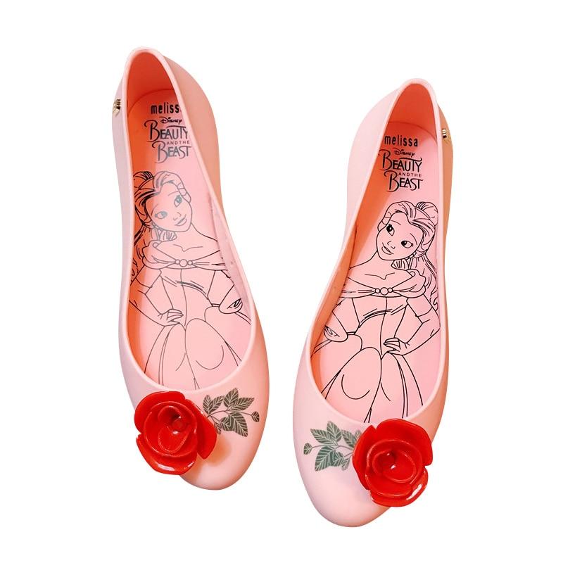 Mini Melissa Kids Shoes Women Jelly Sandals 2018 New Women Sandals Non-slip Melissa Jelly Shoes Pink/Black/Yellow