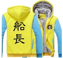 One Piece Hooded Sweatshirt Luffy Print