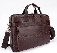 2017 Men Casual Briefcase Business Shoulder Genuine Leather Bag Men Messenger Bags Computer Laptop Handbag Bag