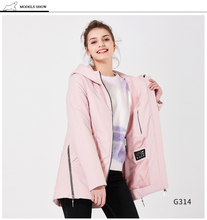 ICEbear Women s Parkas Casual Cotton Padded 2018 Zippers Thin Spring Autumn Jackets Slim Polyester Pockets