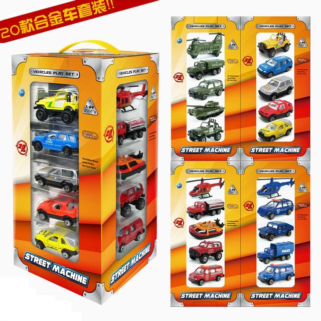 20/conjunto de modelos de automóviles de aleación, camiones de bomberos, militar modelo de coche, juguetes modelo de coche. modelo de transporte de coches de juguete.