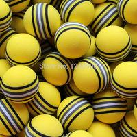 Free Shipping Hot NEW 50pcs Bag EVA Foam Golf Balls Yellow Rainbow Sponge Indoor Practice Training