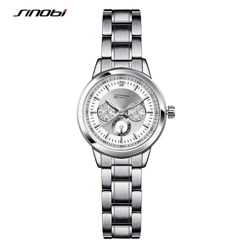 SINOBI Relogio Luxury font b Women S b font Casual font b Watches b font Waterproof