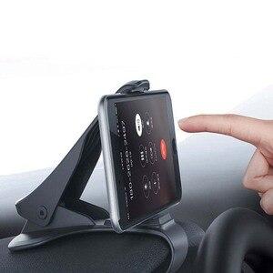 Image 4 - 6.5inch Dashboard Auto Telefoon Houder Gemakkelijk Clip Mount Stand Auto Telefoon Houder GPS Display Beugel Klassieke Zwarte Auto Houder ondersteuning