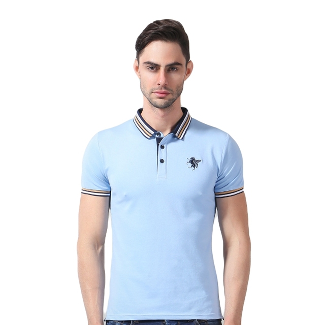 horse logo polo shirt short sleeve bracelona shirts cotton
