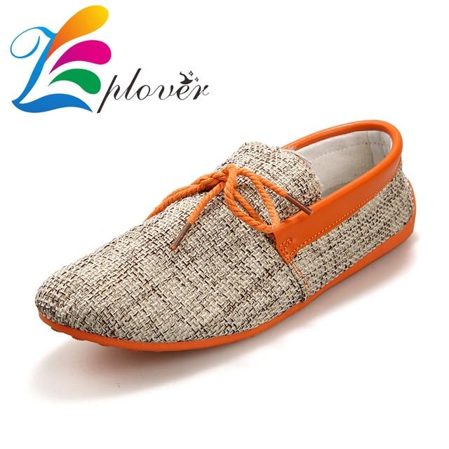 Zplover 2016 New Low Men Canvas Shoes Breathable Hemp Espadrilles Flat Shoes Men Loafer Shoes Casual Zapatillas Hombre