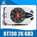Nvidia Чипсет Geforce видеокарта Оригинальный GT730 2 ГБ GDDR3 902/1600 MHz видеокарта для настольных пк.