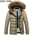 Free shipping New 2017 Down Coat Winter Mens Parkas With Fur Collar  Men's Jacket and Coat Casual Zipper Solid  Parkas 160hfx